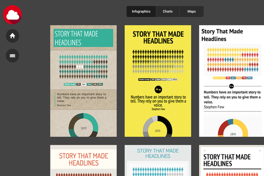 Infogram uses design to improve their infographics.