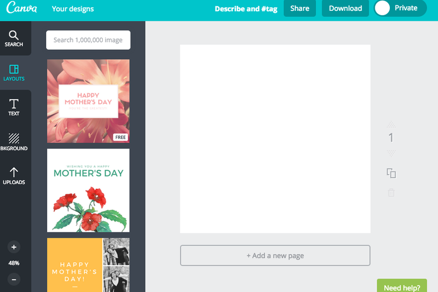 Canva's drawing board design elements at work.