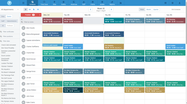 PARiM Schedule Screenshot