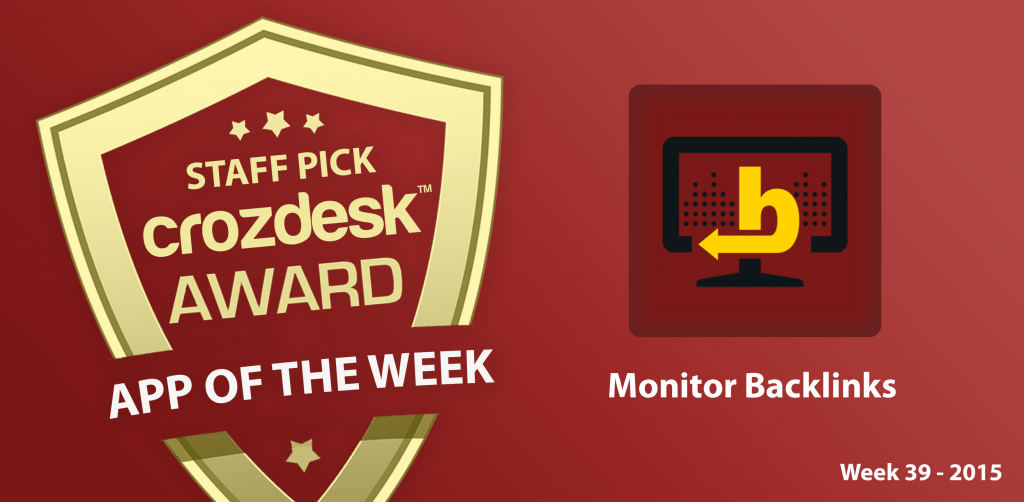 app of the week monitor backlink