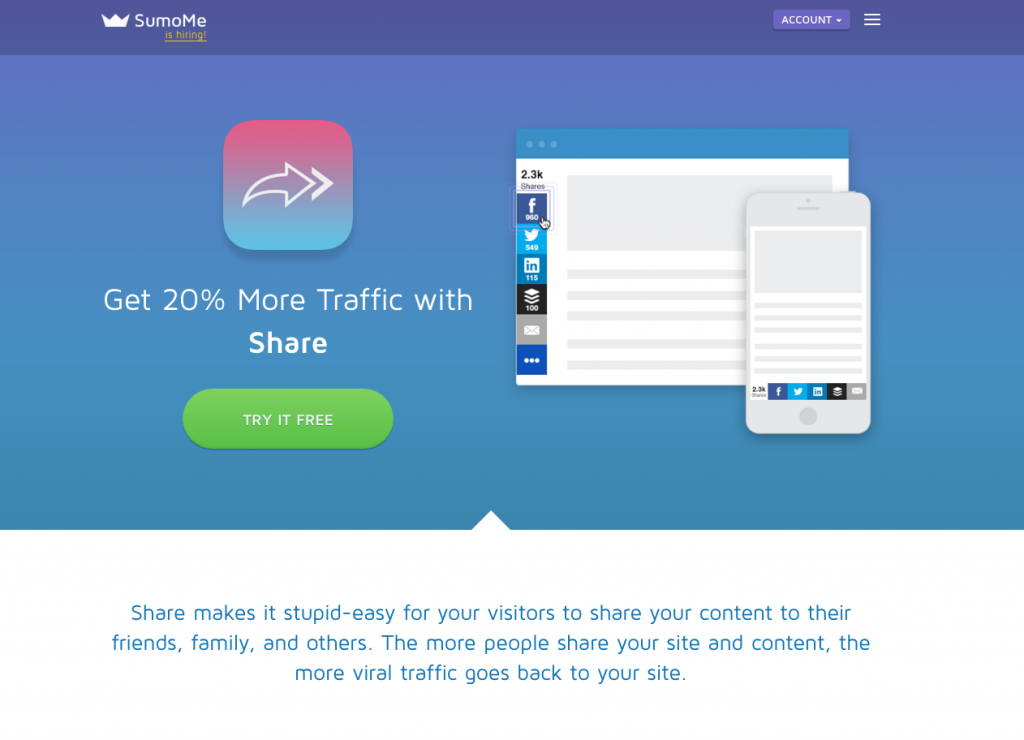SumoMe, Tools to Grow your Web Traffic: Crozdesk App of the Week