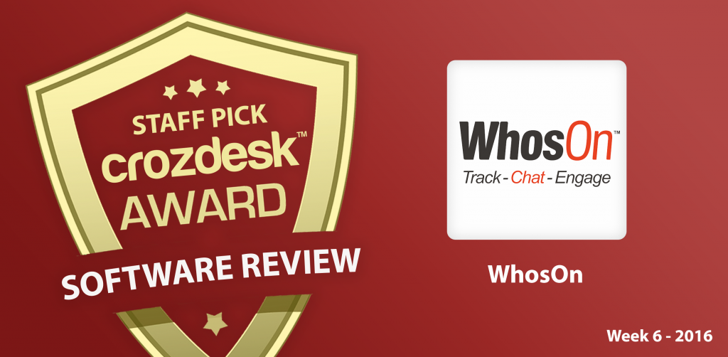 High-performance Live Chat Software, WhosOn: Crozdesk App of the Week