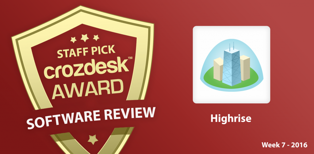 Highrise - CRM for Small Businesses: Crozdesk App of the Week