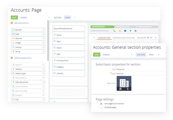 Bpm'online CRM suite - process designer