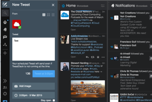 tweetdeck platform screenshot