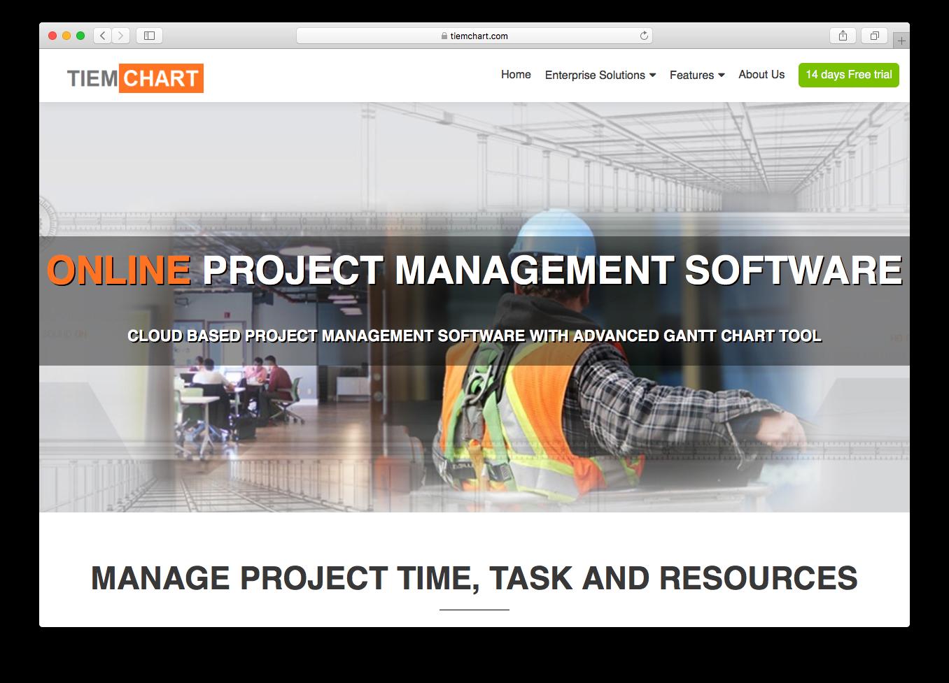 TIEMCHART homepage screenshot