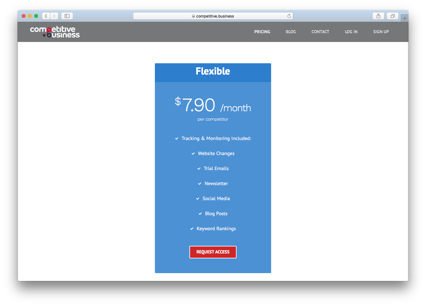 Pricing flexible Competitive Business
