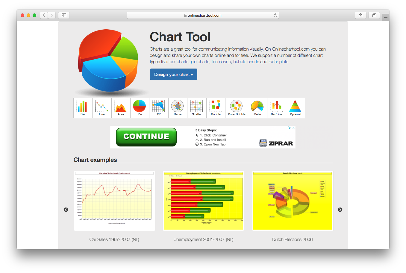 Online chart tool design bar pie line bubble radar