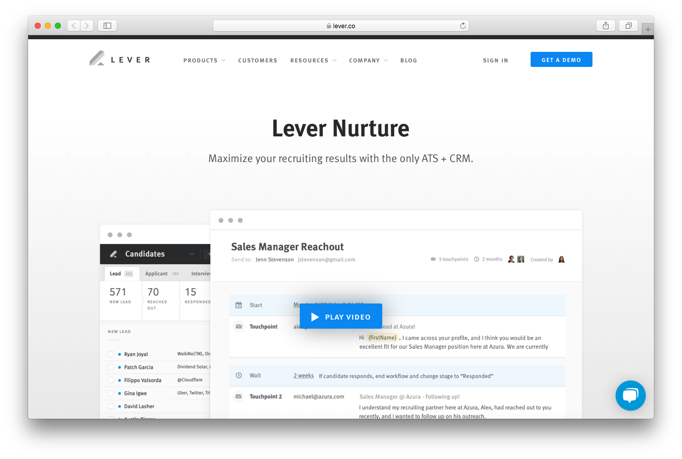 Lever nurture Maximize recruiting results ATS CRM