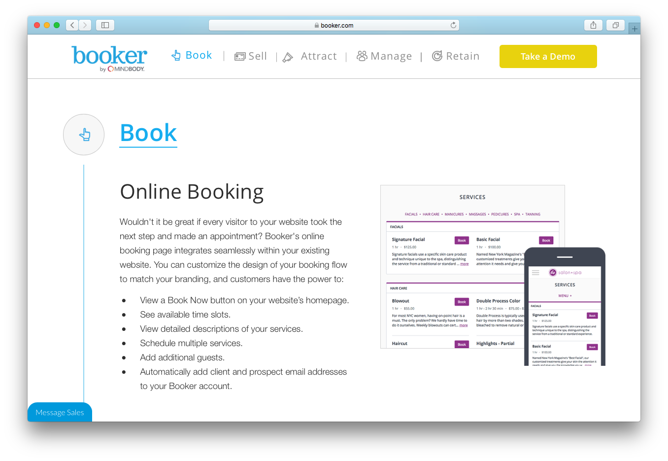 Booker online booking services