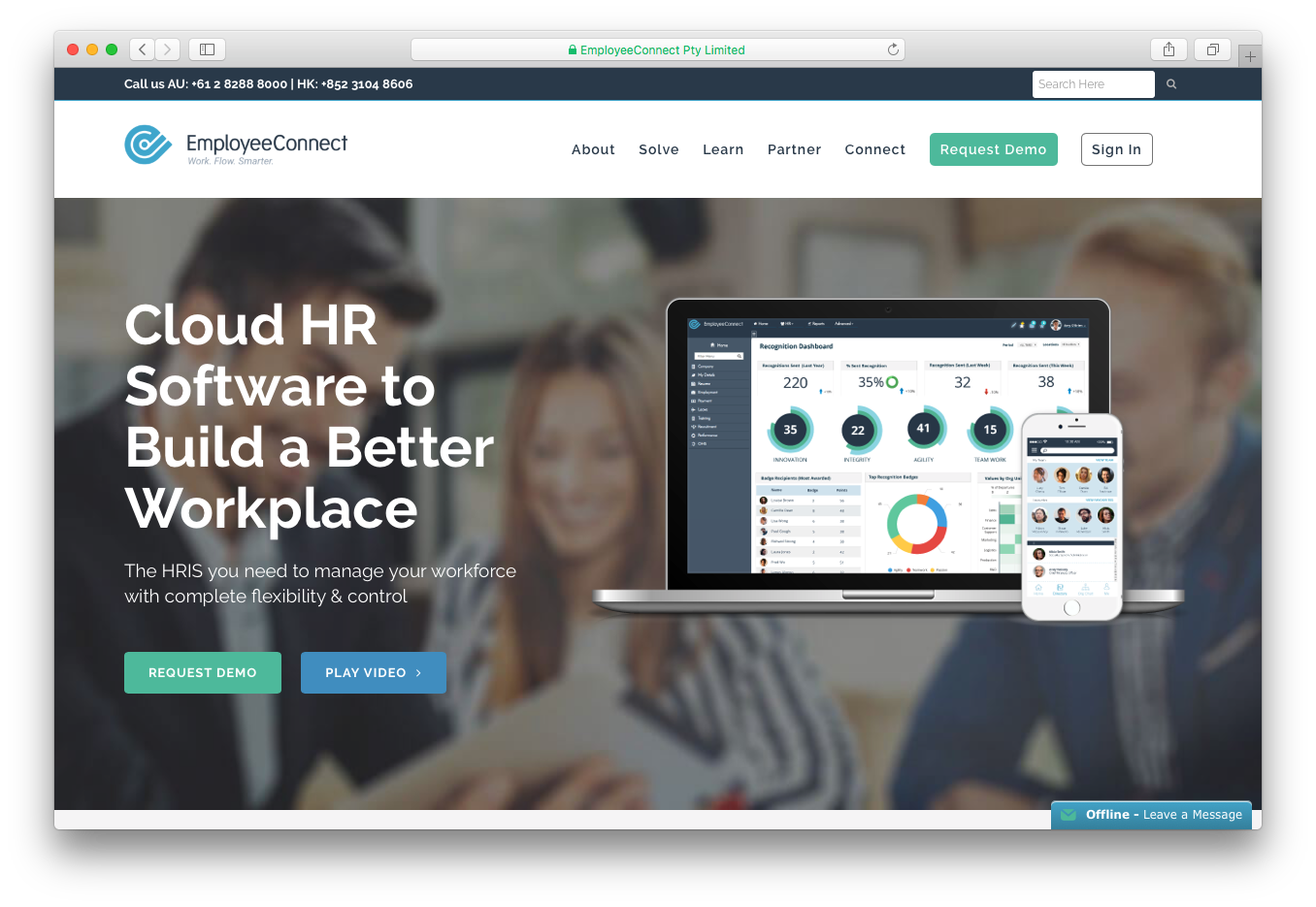 EmployeeConnect cloud HR Human Resources software build better workplace manage workforce