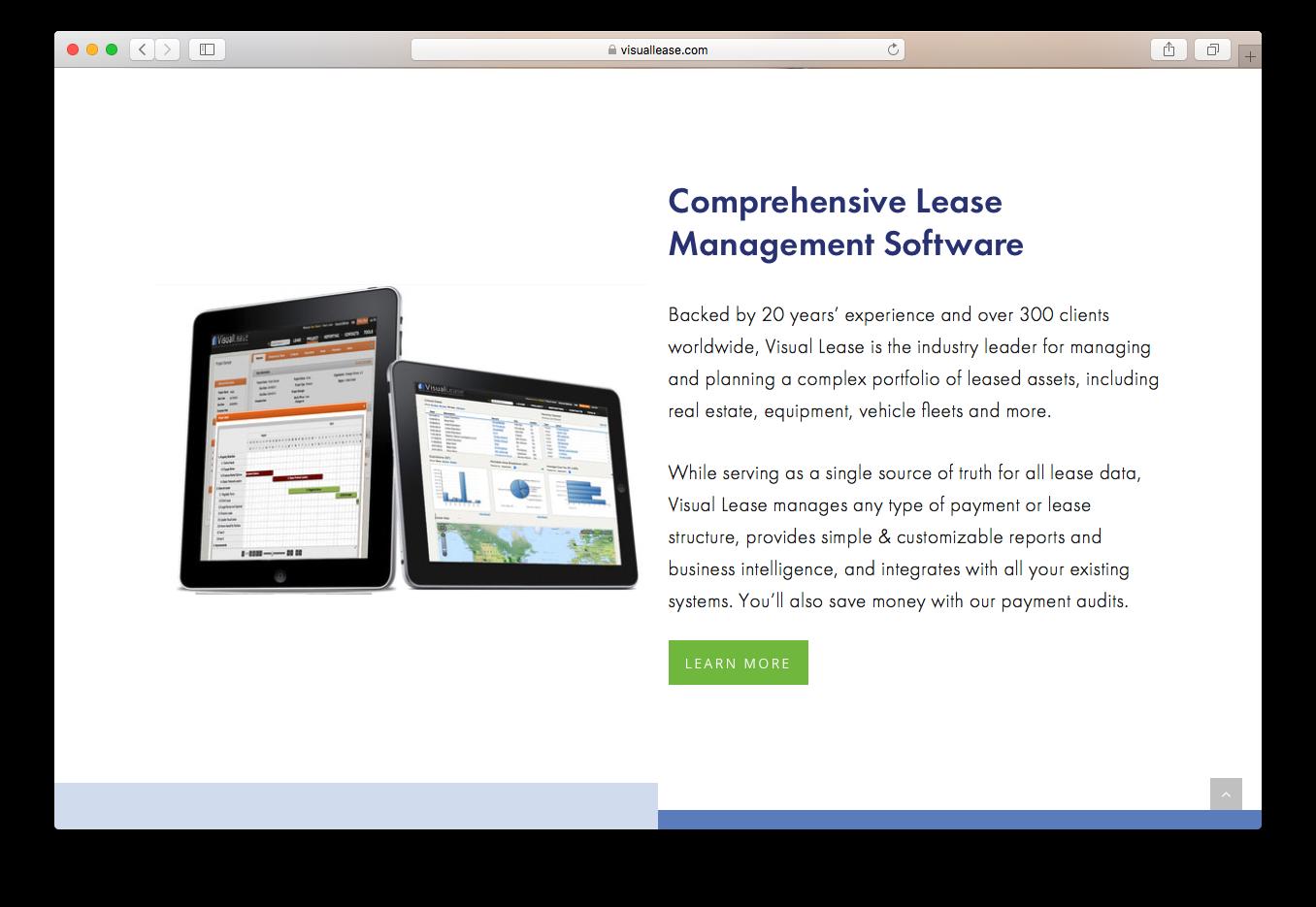Visual Lease comprehensive management software manage plan portfolio assets