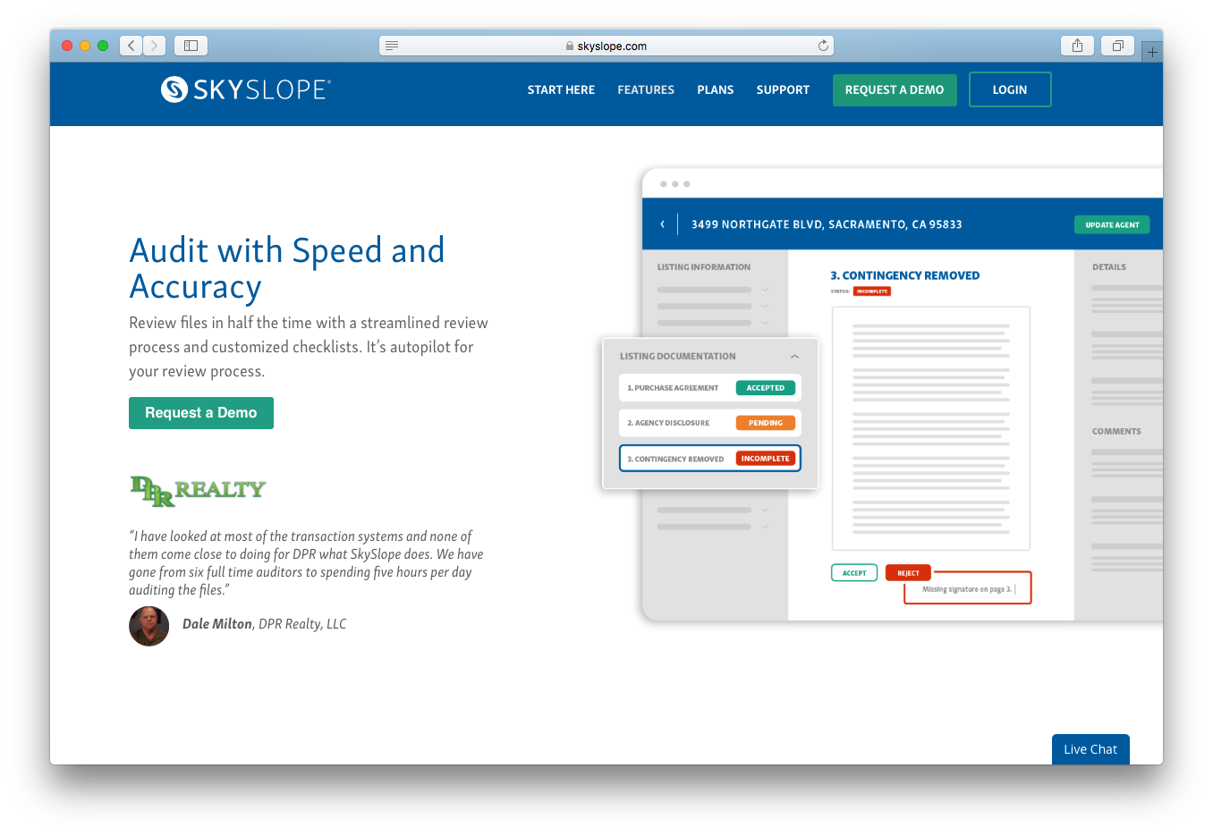 SkySlope audit review process speed accuracy