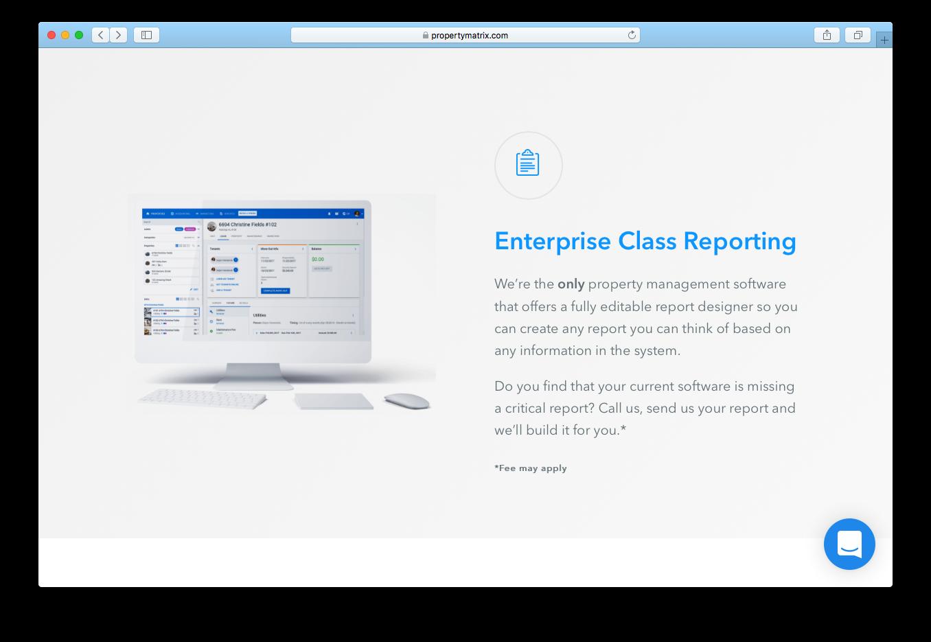 Property Matrix enterprise class reporting property management software designer