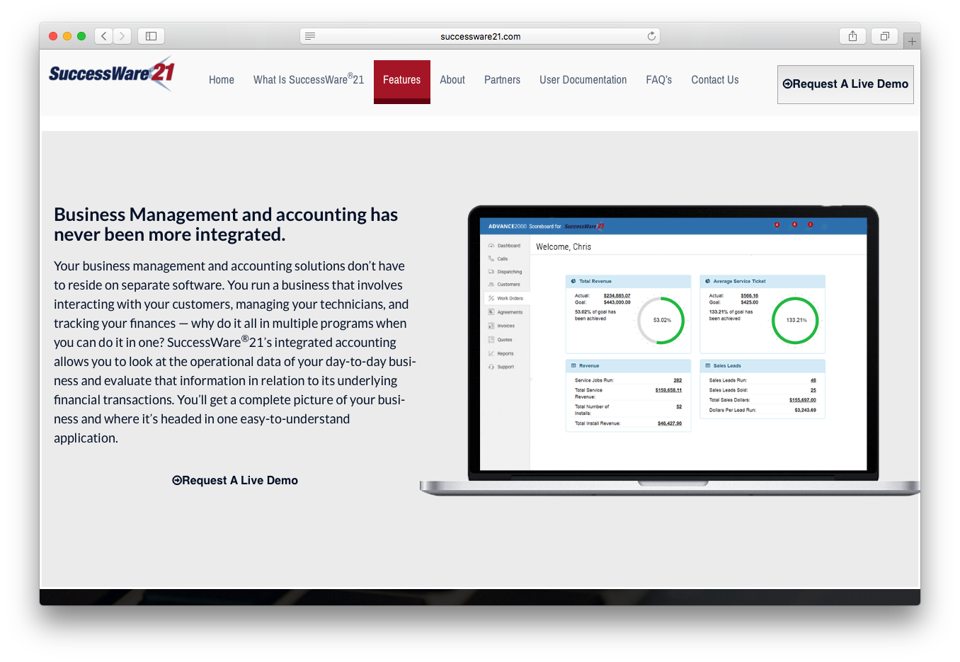SuccessWare features business management accounting integrated