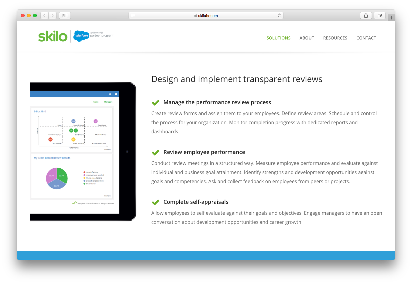 Skilo review feedback design implement transparent reviews performance process employee