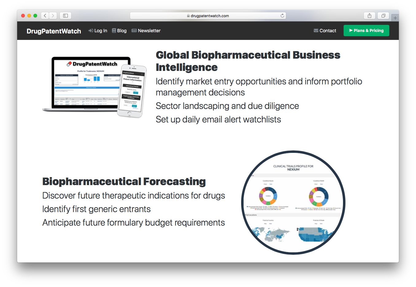 DrugPatentWatch global biopharmaceutical business intelligence forecasting