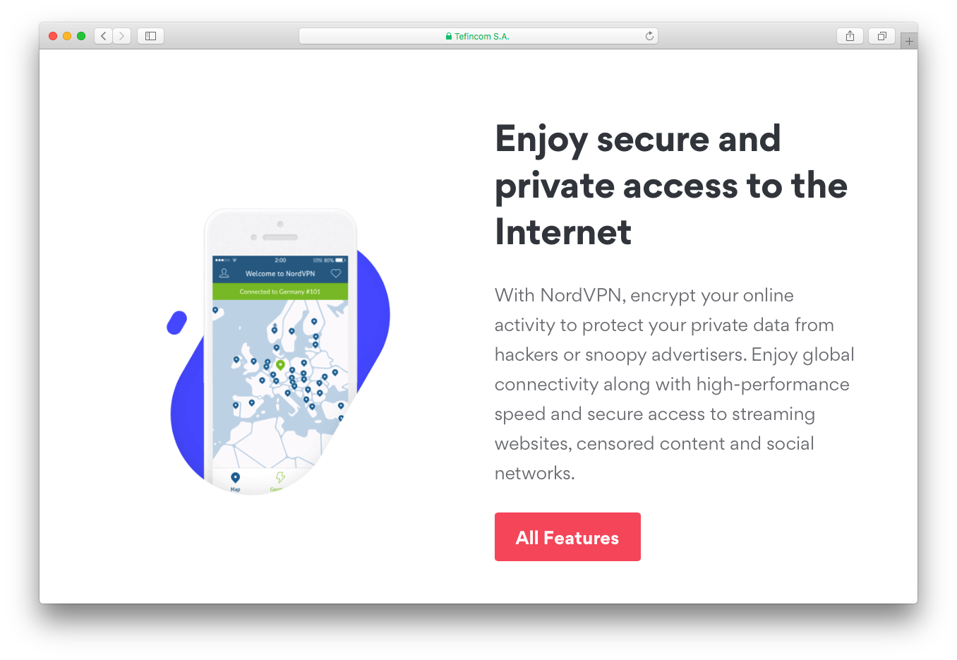 NordVPN secure private internet access encrypt online activity data
