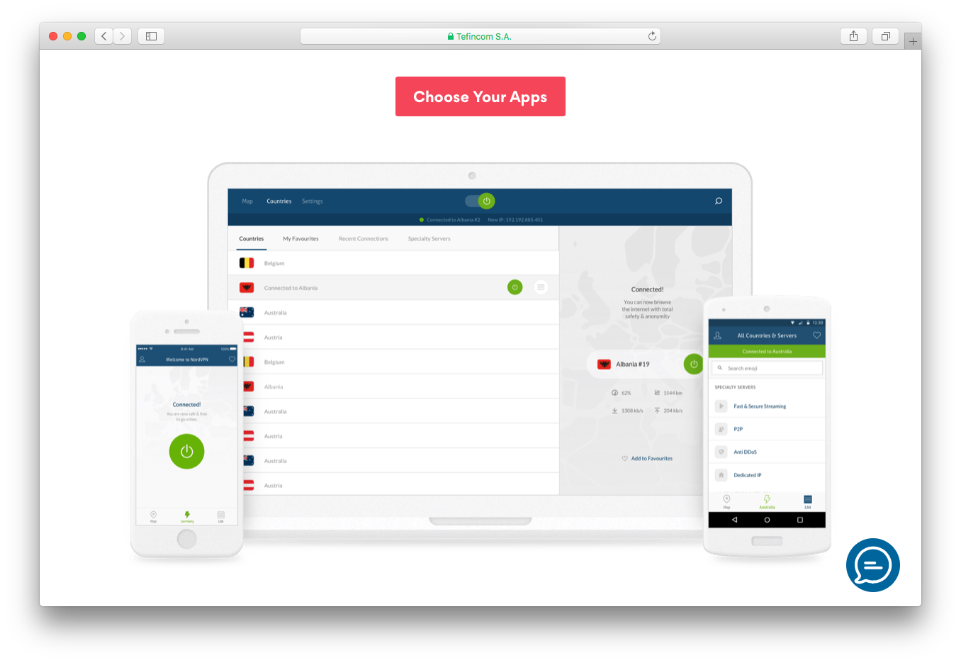 NordVPN protect 6 devices simultaneously mobile apps android iOS macOS windows