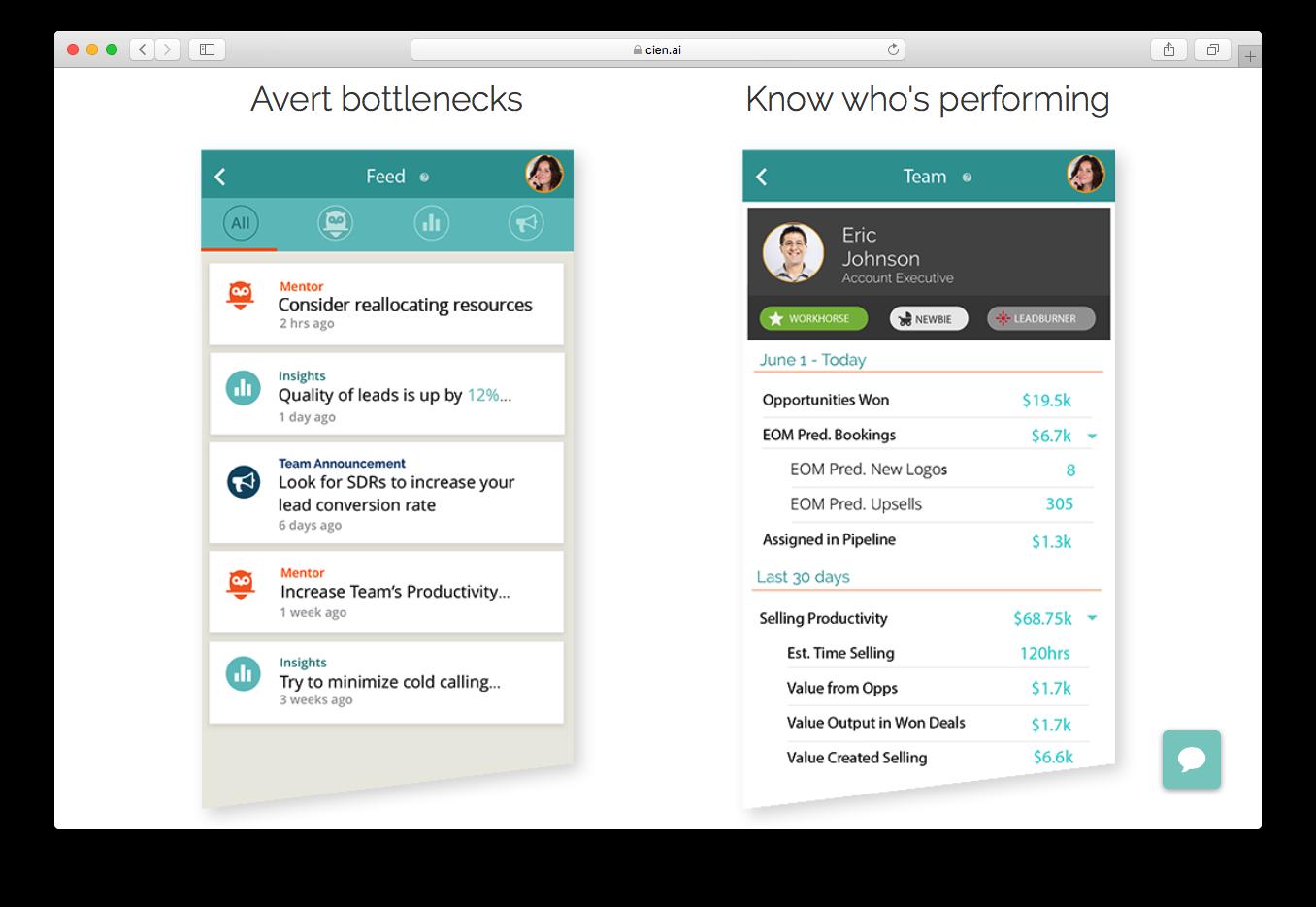 Cien avert bottlenecks feed team performance