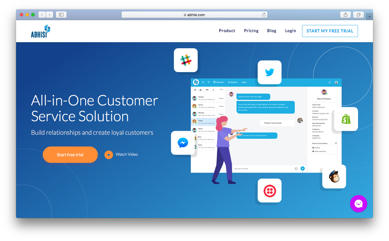 Abhisi all in one customer service solution