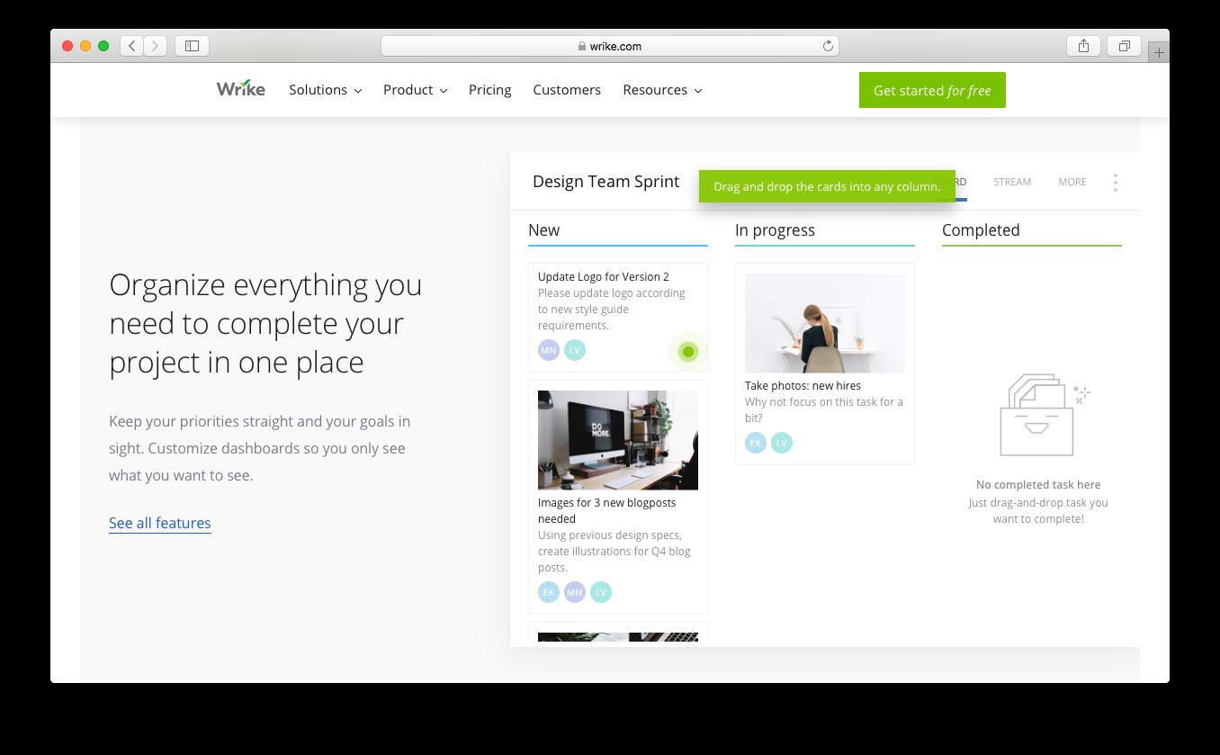 Wrike create organise goals customize dashboards