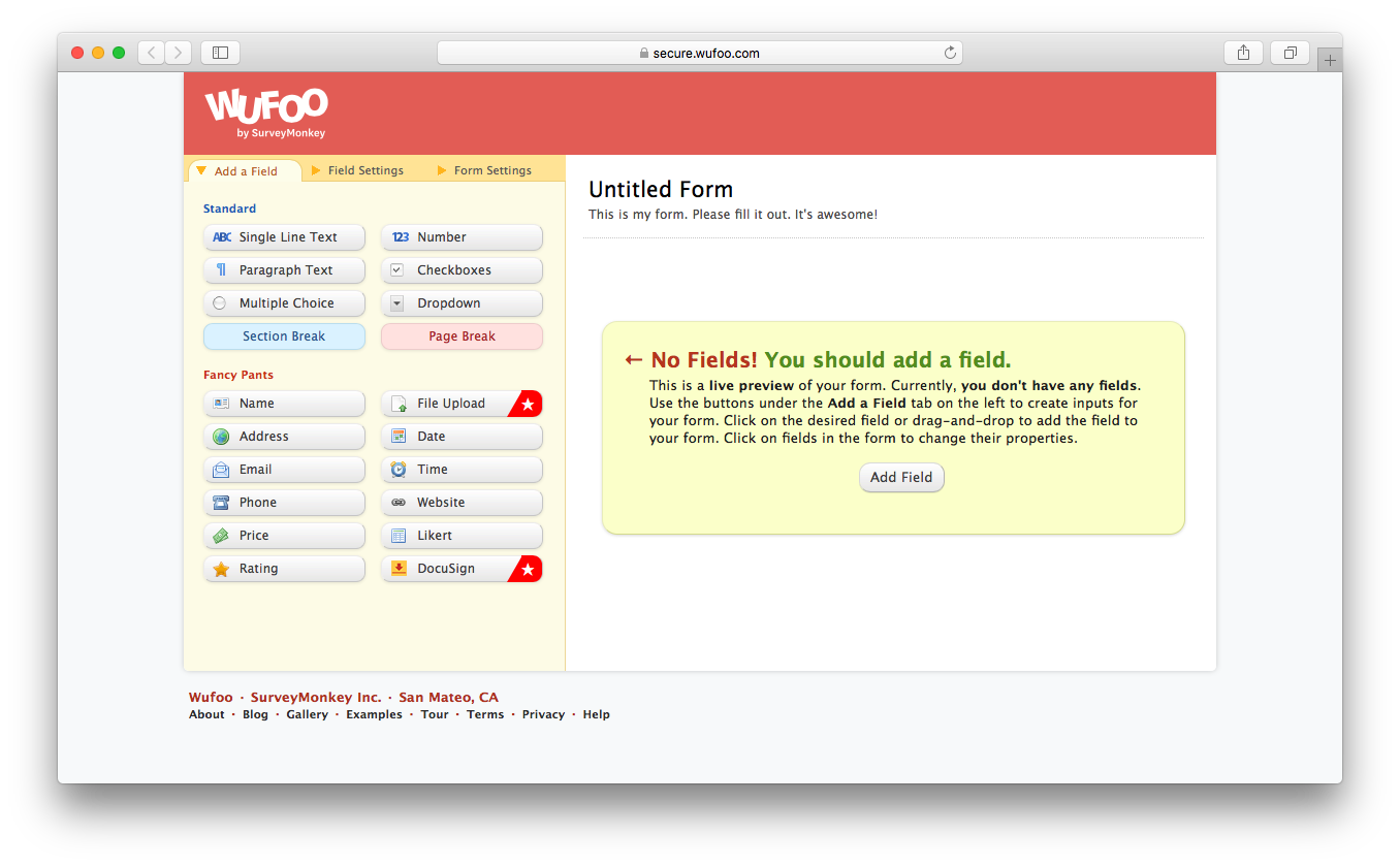 Wufoo demo build share create online forms collect data payments automate workflow