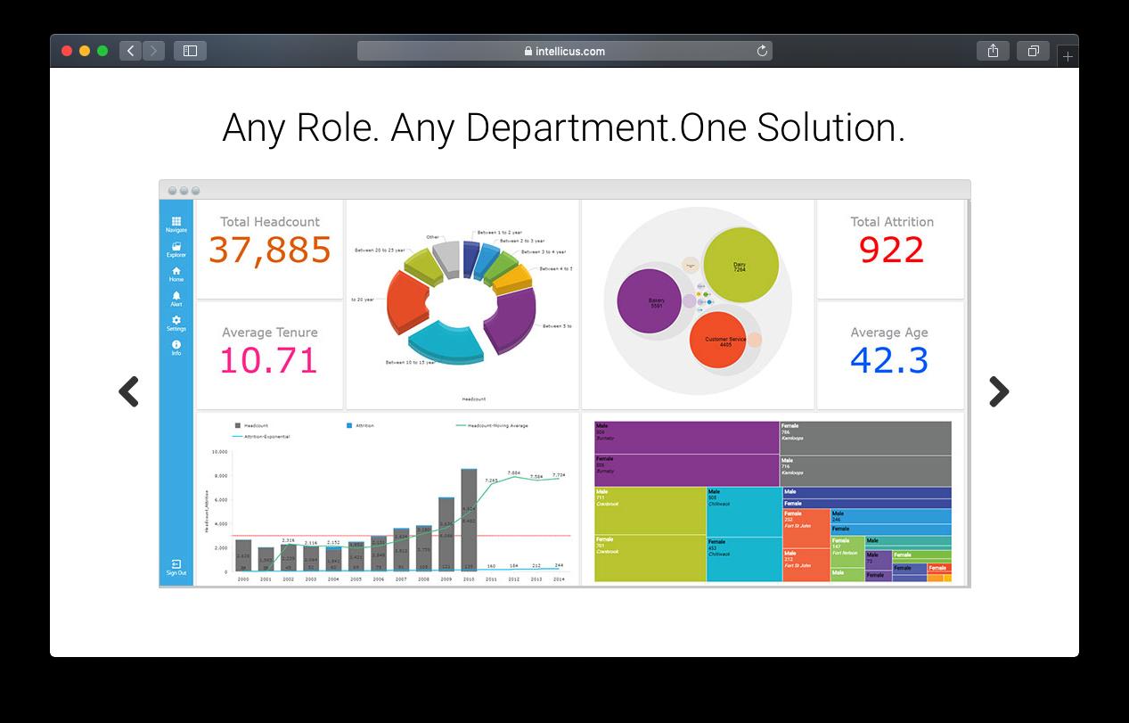 intellicus dashboard BI business intelligence