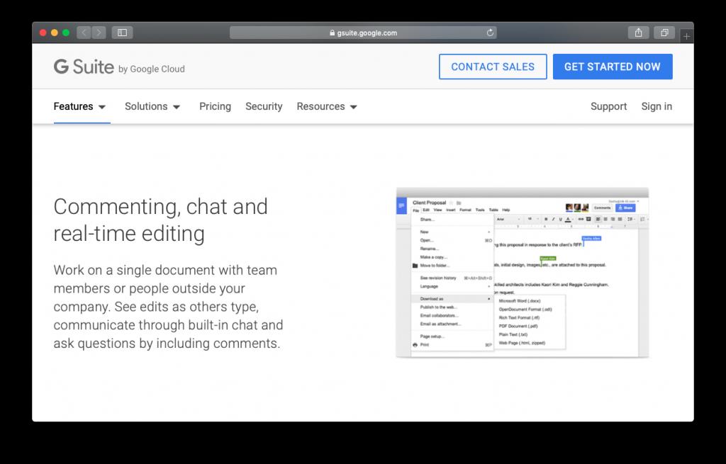 Google Docs comment chat edit