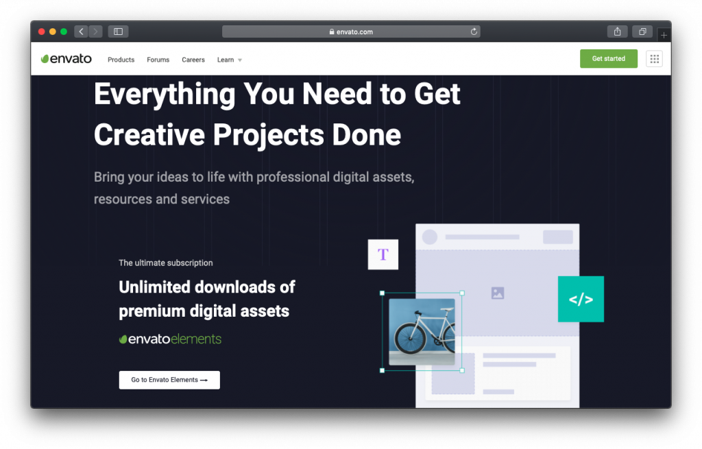 Envato elements creative projects