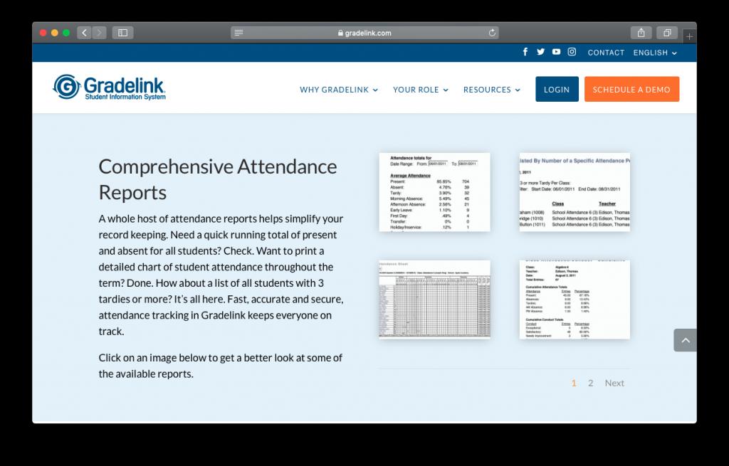 Gradelink attendance reports