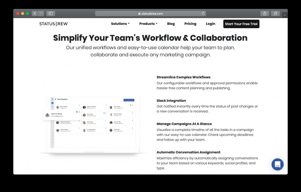 Statusbrew workflow collaboration