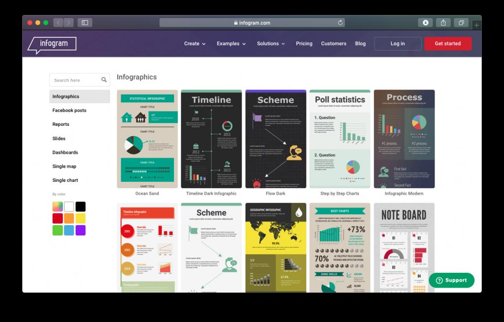 Infogram templates infographics