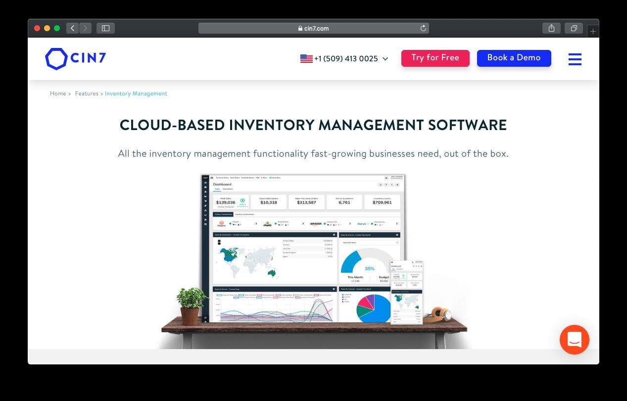 Cin7 inventory management dashboard
