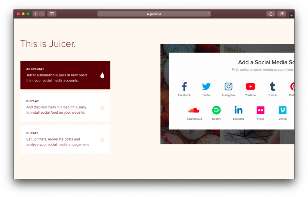 Juicer social media accounts