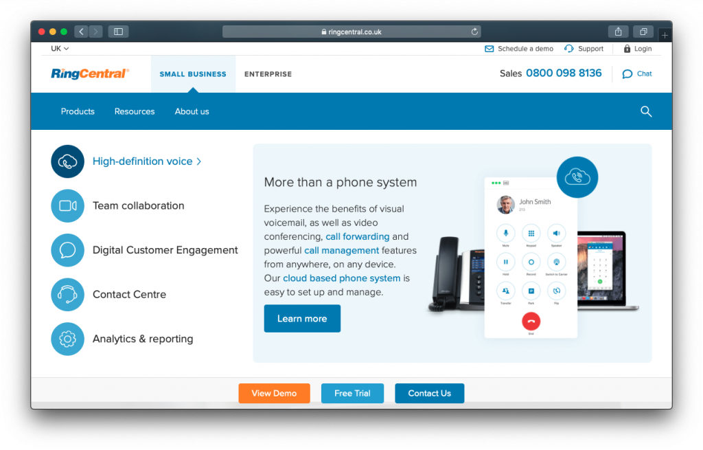 RingCentral VOIP phone
