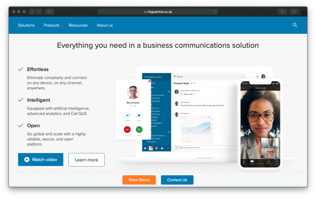 RingCentral business communications