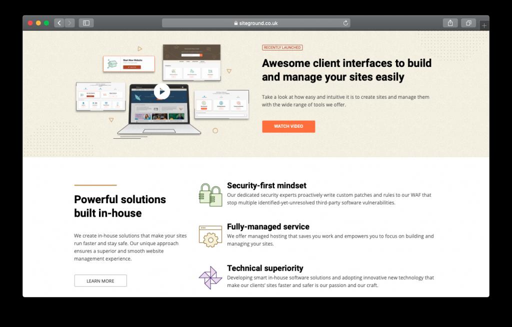 SiteGround web wordpress hosting