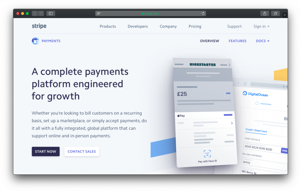 Stripe payments platform