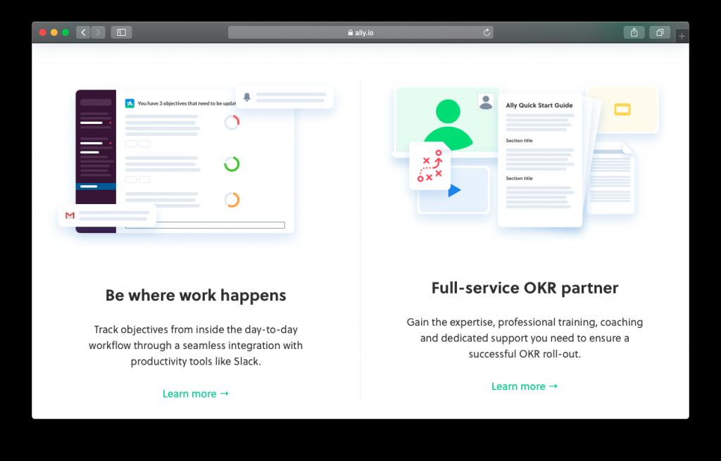 Ally OKR software integrations
