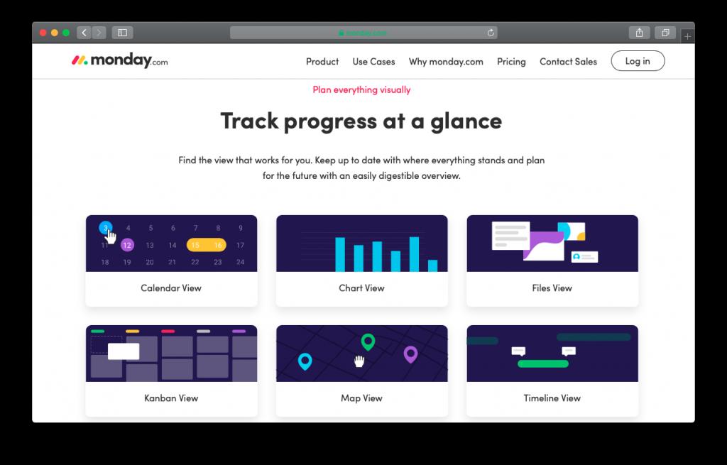 monday.com progress tracking