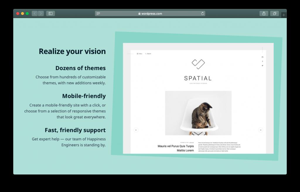 WordPress website builder themes