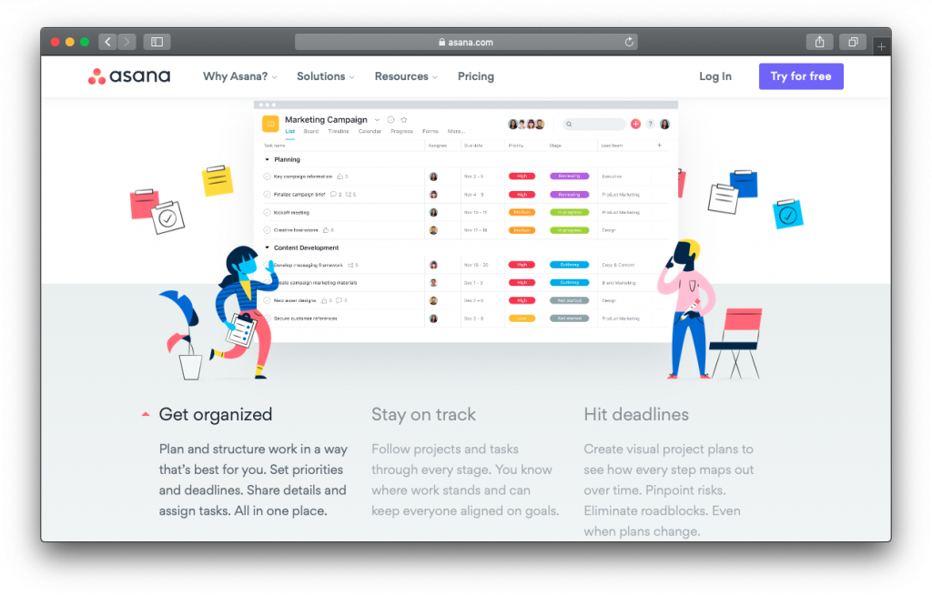 Asana agile project management