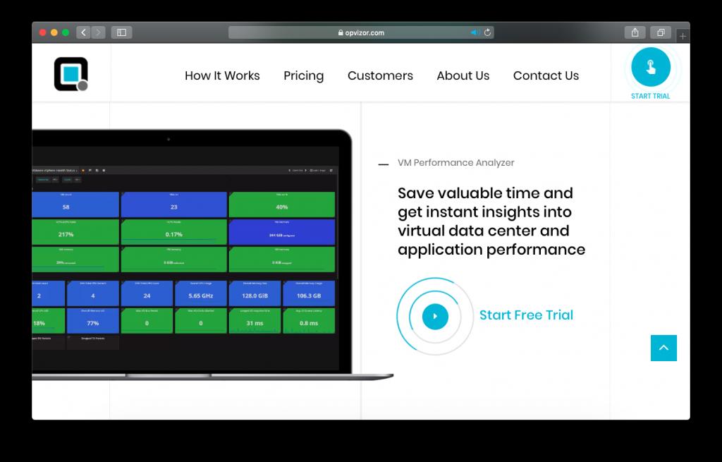 Opvizor Performance Analyzer dashboard