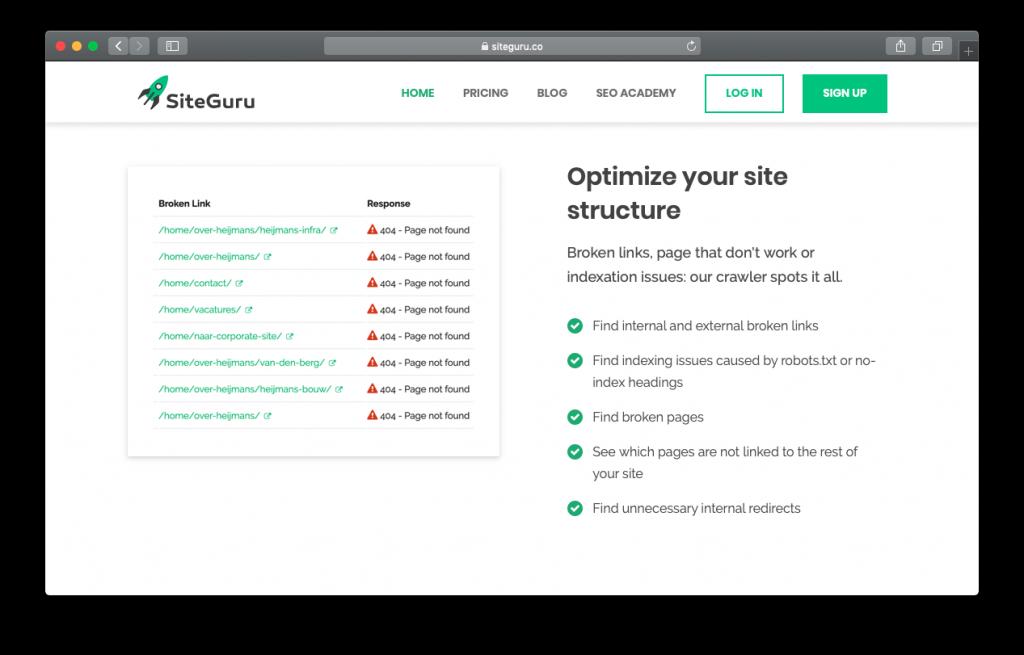 SiteGuru optimize website SEO