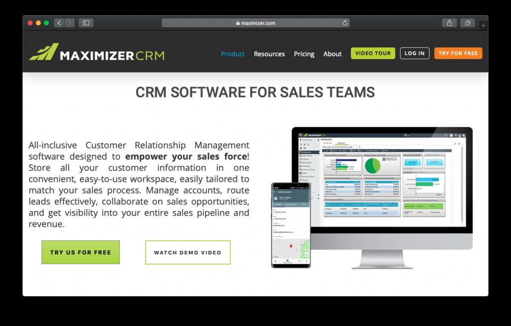 maximizer sales crm