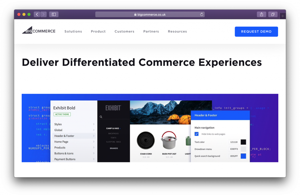 BigCommerce homepage