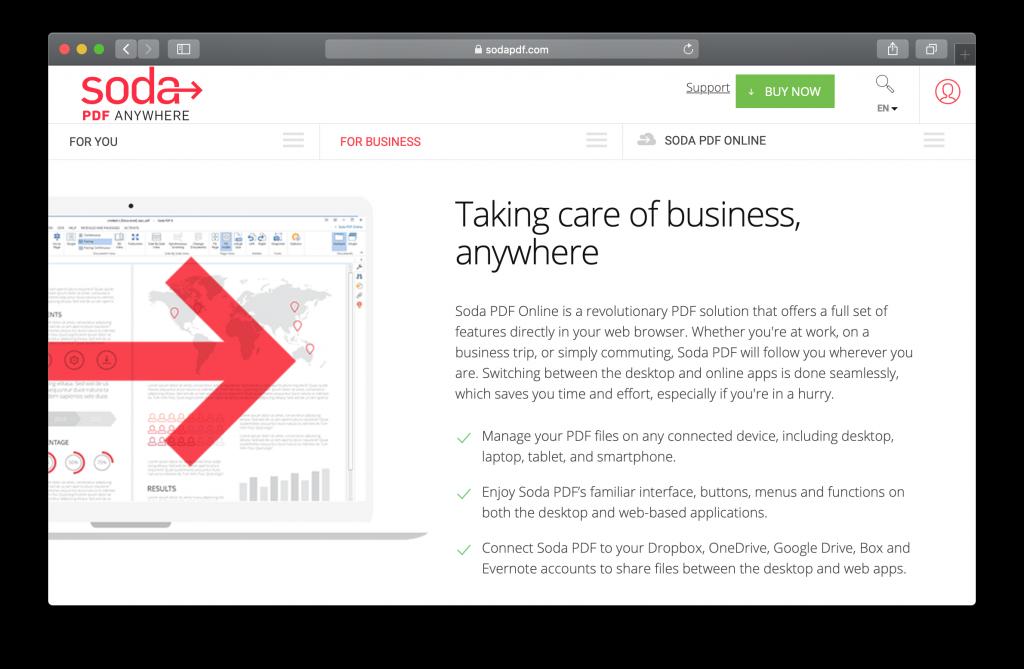 Soda PDF homepage