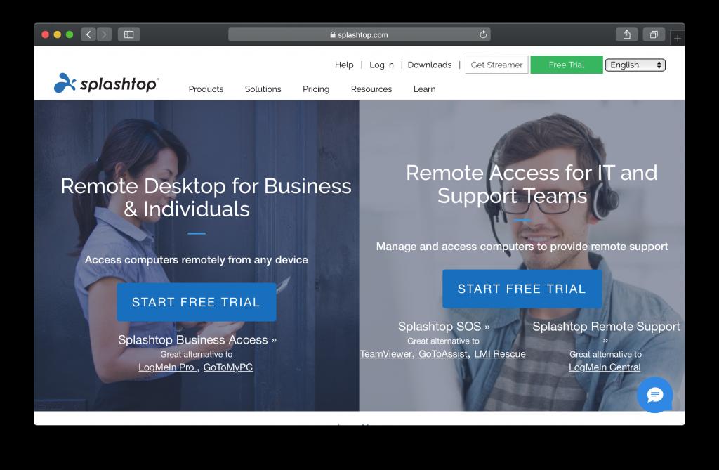 Splashtop Homepage