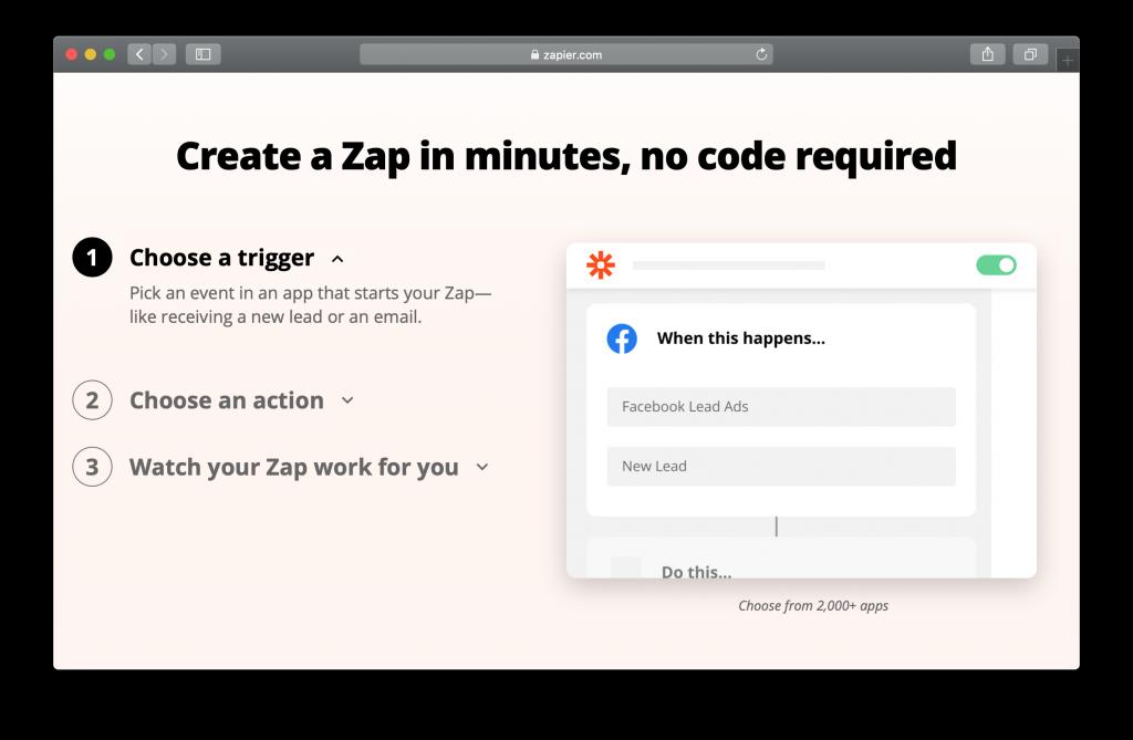 Zapier Homepage